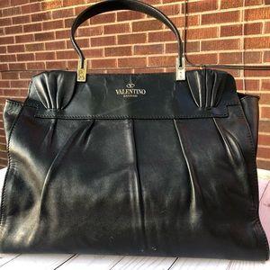 Valentino Leather Aphrodite Top Handle Handbag